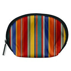 Stripes Background Colorful Accessory Pouches (medium)