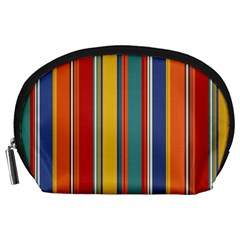 Stripes Background Colorful Accessory Pouches (Large)