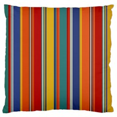Stripes Background Colorful Large Flano Cushion Case (One Side)