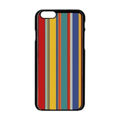Stripes Background Colorful Apple Iphone 6/6s Black Enamel Case