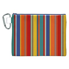 Stripes Background Colorful Canvas Cosmetic Bag (XXL)