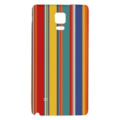 Stripes Background Colorful Galaxy Note 4 Back Case