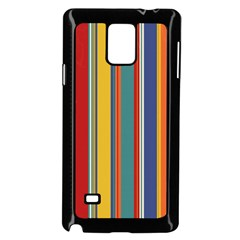 Stripes Background Colorful Samsung Galaxy Note 4 Case (black)