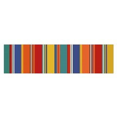 Stripes Background Colorful Satin Scarf (oblong)