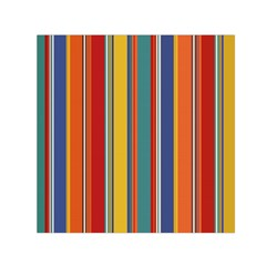Stripes Background Colorful Small Satin Scarf (Square)