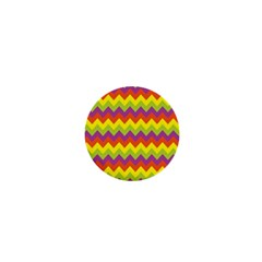 Colorful Zigzag Stripes Background 1  Mini Buttons