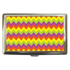 Colorful Zigzag Stripes Background Cigarette Money Cases