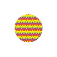 Colorful Zigzag Stripes Background Golf Ball Marker (10 Pack)