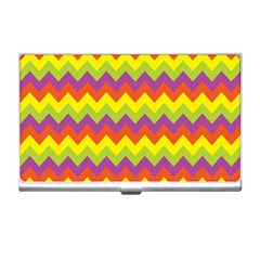 Colorful Zigzag Stripes Background Business Card Holders