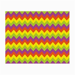 Colorful Zigzag Stripes Background Small Glasses Cloth