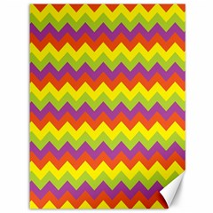 Colorful Zigzag Stripes Background Canvas 36  x 48