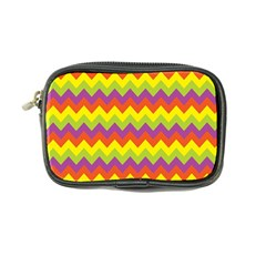 Colorful Zigzag Stripes Background Coin Purse