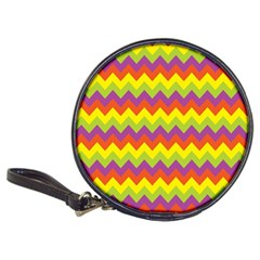 Colorful Zigzag Stripes Background Classic 20-CD Wallets