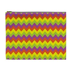 Colorful Zigzag Stripes Background Cosmetic Bag (xl)