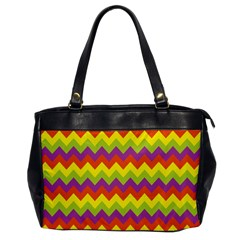 Colorful Zigzag Stripes Background Office Handbags