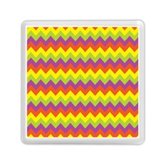Colorful Zigzag Stripes Background Memory Card Reader (square)