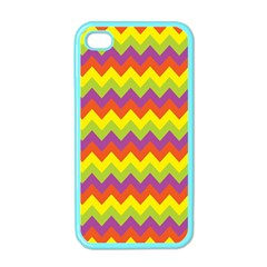 Colorful Zigzag Stripes Background Apple iPhone 4 Case (Color)