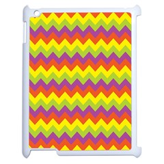 Colorful Zigzag Stripes Background Apple iPad 2 Case (White)
