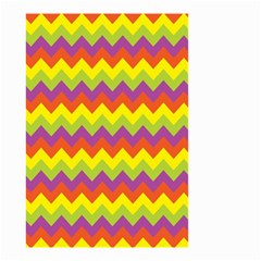 Colorful Zigzag Stripes Background Small Garden Flag (Two Sides)