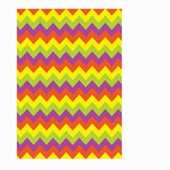 Colorful Zigzag Stripes Background Large Garden Flag (Two Sides)