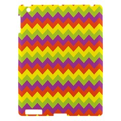 Colorful Zigzag Stripes Background Apple iPad 3/4 Hardshell Case