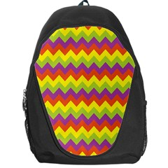 Colorful Zigzag Stripes Background Backpack Bag