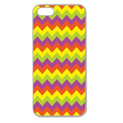 Colorful Zigzag Stripes Background Apple Seamless iPhone 5 Case (Clear)