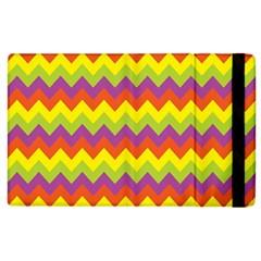 Colorful Zigzag Stripes Background Apple iPad 3/4 Flip Case