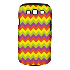Colorful Zigzag Stripes Background Samsung Galaxy S III Classic Hardshell Case (PC+Silicone)