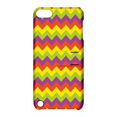 Colorful Zigzag Stripes Background Apple iPod Touch 5 Hardshell Case with Stand