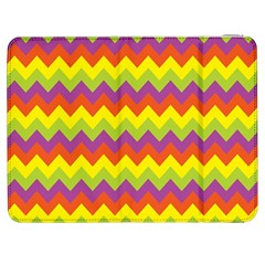 Colorful Zigzag Stripes Background Samsung Galaxy Tab 7  P1000 Flip Case
