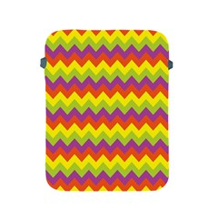 Colorful Zigzag Stripes Background Apple iPad 2/3/4 Protective Soft Cases