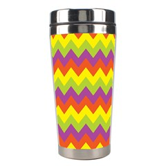 Colorful Zigzag Stripes Background Stainless Steel Travel Tumblers