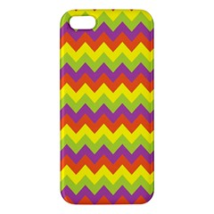 Colorful Zigzag Stripes Background iPhone 5S/ SE Premium Hardshell Case