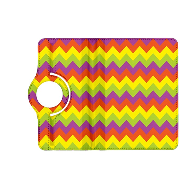 Colorful Zigzag Stripes Background Kindle Fire HD (2013) Flip 360 Case