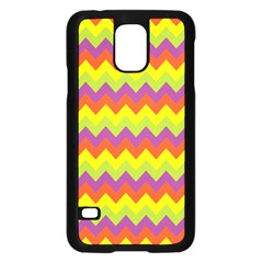 Colorful Zigzag Stripes Background Samsung Galaxy S5 Case (Black)