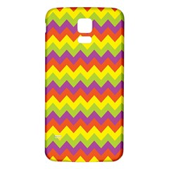 Colorful Zigzag Stripes Background Samsung Galaxy S5 Back Case (White)