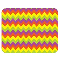 Colorful Zigzag Stripes Background Double Sided Flano Blanket (medium)