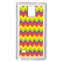 Colorful Zigzag Stripes Background Samsung Galaxy Note 4 Case (white)