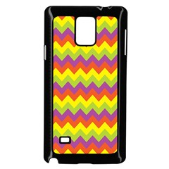 Colorful Zigzag Stripes Background Samsung Galaxy Note 4 Case (Black)