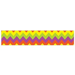 Colorful Zigzag Stripes Background Flano Scarf (Small)
