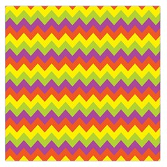 Colorful Zigzag Stripes Background Large Satin Scarf (square)