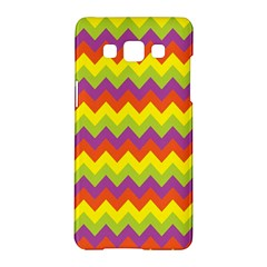 Colorful Zigzag Stripes Background Samsung Galaxy A5 Hardshell Case