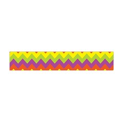 Colorful Zigzag Stripes Background Flano Scarf (Mini)