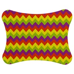 Colorful Zigzag Stripes Background Jigsaw Puzzle Photo Stand (Bow)