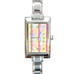 Abstract Stripes Colorful Background Rectangle Italian Charm Watch