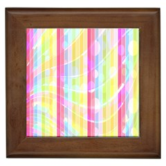 Abstract Stripes Colorful Background Framed Tiles