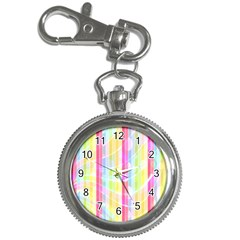 Abstract Stripes Colorful Background Key Chain Watches