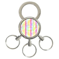 Abstract Stripes Colorful Background 3 Ring Key Chains