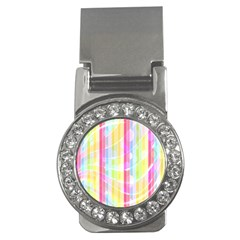 Abstract Stripes Colorful Background Money Clips (cz)
